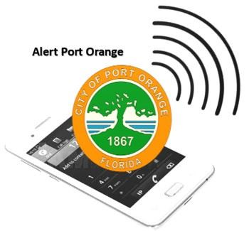 Graphic on Alert Port Orange, a notification system to alert citizens on weather, public safety