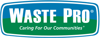 A graphic of Waste Pro logo